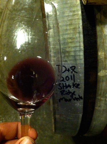 A sample of Shake Ridge Mourvedre